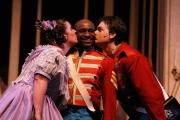 Soprano Alisa Cassola as Marie, bass-baritone Frank Ward as Sergeant Sulpice and tenor Joshua Kohl as Tonio, Daughter of the Regiment, Boston Lyric Opera, 2006