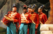 Bass-baritone Frank Ward as Sergeant Sulpice with the Regimental Soldiers, Daughter of the Regiment, Boston Lyric Opera, 2006