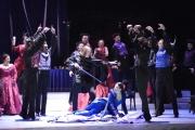 Tenor Alan Schneider and mezzo-soprano Stephanie Chigas with the cast of La traviata, La Traviata, Boston Lyric Opera, 2006