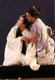 Butterfly (soprano Kelly Kaduce) and Suzuki (mezzo-soprano Melina Pineda), Madama Butterfly, Boston Lyric Opera, 2006