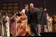 Butterfly (soprano Kelly Kaduce) and her uncle, The Bonze (bass-baritone Michael Callas), Madama Butterfly, Boston Lyric Opera, 2006
