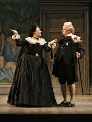 Mezzo-soprano Gale Fuller (Marcellina) and bass Matthew Lau (Bartolo), Le nozze di Figaro, Boston Lyric Opera, 2007