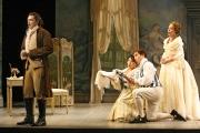 Baritone Paulo Szot (Count Almaviva), soprano Ailyn Pérez (Susanna), bass-baritone Kyle Ketelsen (Figaro) and soprano Jennifer Casey Cabot (Countess Almaviva), Le nozze di Figaro, Boston Lyric Opera, 2007