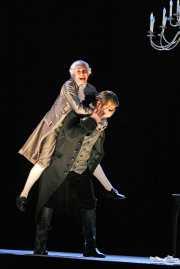 Oscar (soprano Heidi Stober of Dorchester, MA) and Count Horn (bass-baritone David Cushing of Monument Beach, MA), Un ballo in maschera, Boston Lyric Opera, 2007