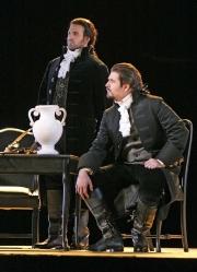 Count Ribbing (bass-baritone Michael Callas) and Count Horn (bass-baritone David Cushing of Monument Beach, MA), Un ballo in maschera, Boston Lyric Opera, 2007