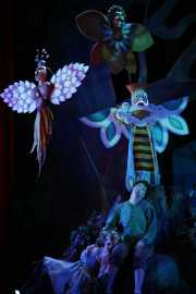 Hansel and Gretel sleep in the woods protected by angels, Hansel and Gretel, Boston Lyric Opera, 2008