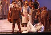 Belcore (baritone James Westman) and Nemorino (tenor Eric Cutler), L'eliser d'amore, Boston Lyric Opera, 2008