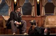 Osmin (David Cushing, bass-baritone) taunts his captive, the Spanish servant Pedrillo (Tim Oliver, tenor), The Abduction from the Seraglio, 2008