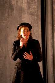 Donna Anna (soprano Susanna Phillips) contemplates Don Giovanni's punishment for murdering her father after assaulting her, Don Giovanni, Boston Lyric Opera, 2009