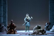 , Idomeneo re di CretaNeptune (bass Craig Phillips), personified as a villager, interrupts the sacrifice of the prince Idamante, Boston Lyric Opera, 2010