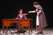 Mrs. Gross (mezzo-soprano Joyce Castle) gives the Governess (soprano Emily Pulley) a disturbing letter from Miles's school, The Turn of the Screw, 2010