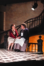 The Governess (soprano Emily Pulley) and Mrs. Gross (mezzo-soprano Joyce Castle) share a moment while Flora and Miles are preoccupied with their own interests, The Turn of the Screw, 2010