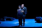 Darren K. Stokes (Banquo) and Elijah Jean-Pierre (Fleance), Macbeth, Boston Lyric Opera, 2011