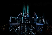 The cast of The Lighthouse. <br/>Christopher Burchett (Officer 2/Blazes), <br/>David Cushing (Officer 3/Arthur/Voice of the Cards), <br/>and John Bellemer (Officer 1/Sandy), The Lighthouse, Boston Lyric Opera, 2011