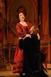 Soprano Sarah Coburn as Rosina and Tenor John Tessier as Count Almaviva in Boston Lyric Opera's The Barber of Seville, 2012
