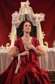 Soprano Sarah Coburn as Rosina in Boston Lyric Opera's The Barber of Seville, 2012