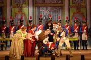 A scene from Act One of Boston Lyric Opera's The Barber of Seville, 2012