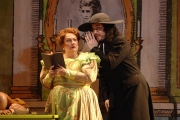 Mezzo-soprano Judith Christin as Berta and Bass-baritone David Cushing as Basilio in Boston Lyric Opera's The Barber of Seville., 2012