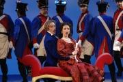 Tenor John Tessier as Count Almaviva and Soprano Sarah Coburn as Rosina in Boston Lyric Opera's The Barber of Seville, 2012