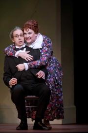 """Mezzo-soprano Victoria Livengood as Sarelda and baritone David Kravitz as Tancredi in Boston Lyric Opera's production of John Musto's """"The Inspector."""", 2012"""