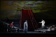 Olivia Dundon-Duvall (Senta, age 14), Gregory Frank (Donald), and Alfred Walker (The Dutchman), The Flying Dutchman, Boston Lyric Opera, 2013