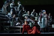 Allison Oakes (Senta) and The Flying Dutchman Chorus, The Flying Dutchman, Boston Lyric Opera, 2013