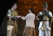 David Cushing as Sarastro, Deborah Selig as Pamina, Boston Lyric Opera, The Magic Flute, OCT 2013