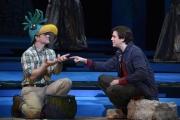 Zach Borichevsky as Tamino and Andrew Garland as Papageno, Boston Lyric Opera, The Magic Flute, OCT 2013