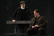 (l.-r.) Omar Najmi as Vanya Kudrjasch hears the lovelorn plight of Boris Grigoryevich (Raymond Very) in Boston Lyric Opera's production of Kátya Kabanová, composed by Leoš Janáček. 2015