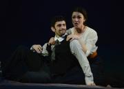 (l.-r.) Young lovers Vanya and Varvara (Omar Najmi and Sandra Piques Eddy), enjoy a furtive meeting in Boston Lyric Opera's production of Kátya Kabanová, composed by Leoš Janáček. 2015