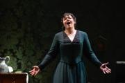 2015, Torn between a loveless marriage and the possibility of happiness Kátya (Elaine Alvarez) struggles with temptation in Boston Lyric Opera's production of Kátya Kabanová, composed by Leoš Janáček