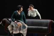 (l.-r.) Kátya (Elaine Alvarez) is teased by Varvara (Sandra Piques Eddy) with a key to the garden gate that will allow her to be with potential lover Boris while her husband is away in Boston Lyric Opera's production of Kátya Kabanová, composed by Leoš Janáček. 2015