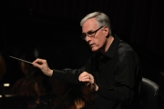 Conductor David Angus rehearses the Boston Lyric Opera orchestra for BLO's production of Kátya Kabanová, composed by Leoš Janáček. 2015