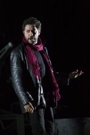 "(l.-r.) Tony Award-winning performer Jesus Garcia stars as Rodolfo in Boston Lyric Opera's new production of ""La Bohème,"" directed by Rosetta Cucchi in her U.S. debut and running Oct 2-11 at the Citi Performing Arts Center Shubert Theatre in Boston"