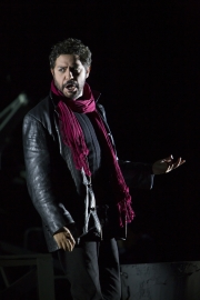 """(l.-r.) Tony Award-winning performer Jesus Garcia stars as Rodolfo in Boston Lyric Opera's new production of """"La Bohème,"""" directed by Rosetta Cucchi in her U.S. debut and running Oct 2-11 at the Citi Performing Arts Center Shubert Theatre in Boston"""