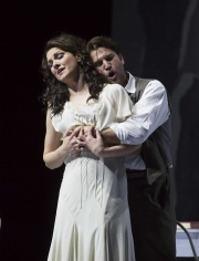 """(l.-r.) Sandra Piques Eddy and Alex Richardson in Boston Lyric Opera's """"Werther,"""" running March 11-20 at the Citi Shubert Theater"""