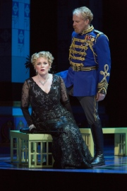 Erin Wall, as Hanna Glawari, and Roger Honeywell, as Count Danilo, in Boston Lyric Opera's new production of The Merry Widow running April 29-May 8 at the Citi Shubert Theater.