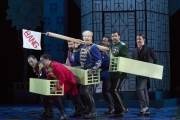 Roger Honeywell, as Count Danilo, leads a battalion of male comrades in a war of the sexes, in Boston Lyric Opera's new production of The Merry Widow running April 29-May 8 at the Citi Shubert Theater.