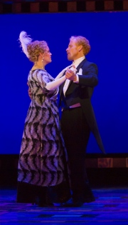 Erin Wall, as Hanna Glawari, dances with Roger Honeywell, Count Danilo, in Boston Lyric Opera's new production of The Merry Widow running April 29-May 8 at the Citi Shubert Theater.