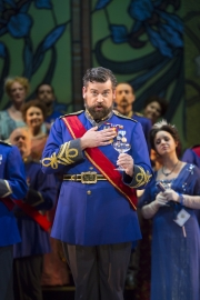 Andrew Wilkowske in Boston Lyric Opera's new production of The Merry Widow running April 29-May 8 at the Citi Shubert Theater.