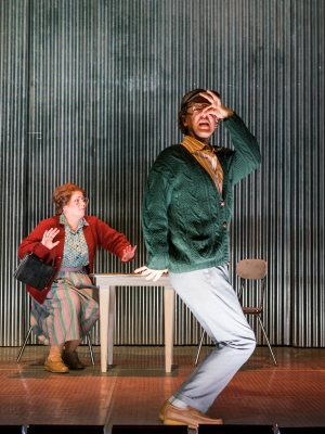 (l.-r.) Eddy's mother and father (Caroline Worra and Christopher Burchett) lament the decline of their hometown in the Boston Lyric Opera production of Mark Anthony Turnage's GREEK, running Nov 16-20 at the Emerson/Paramount Center.