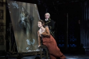 Tosca (Elena Stikhina) is overcome when Chief of Police Scarpia (Daniel Sutin) tried to convince her that her lover is cheating in the Boston Lyric Opera production of TOSCA, running Oct 13-22 at the Cutler Emerson Majestic Theater. Tickets BLO.org.