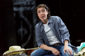 """The young male page Cherubino (Emily Fons, in one of opera's most famous cross-gender """"trouser roles"""") can't help falling in love with women around the Court in Boston Lyric Opera's new production of """"The Marriage of Figaro"""" running through May 7 at John Hancock Hall"""