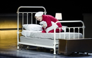 """Offred (Jennifer Johnson Cano) despairs over the fate of her daughter in Boston Lyric Opera's production of """"The Handmaid's Tale,"""" running through May 12. BLO.org."""