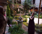 Soprano Chelsea Basler portrays famous opera singer Nellie Melba at a pop-up performance during the Isabella Stewart Gardner Museum's Third Thursday.