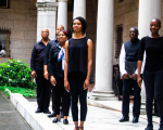 The artists from Crossing the Line to Freedom: A Musical Narrative presented in collaboration with Castle of Our Skins and performed at the Boston Public Library as part of their Concert in the Courtyard series.