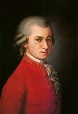 Wolfgang Amadeus Mozart, portrait by Johann Nepomuk della Croce (1780).