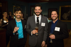 BLO: Werther - Opening Night, March 11, 2016: Omar Nadjmi, David McFerrin and Jon Jurgens
