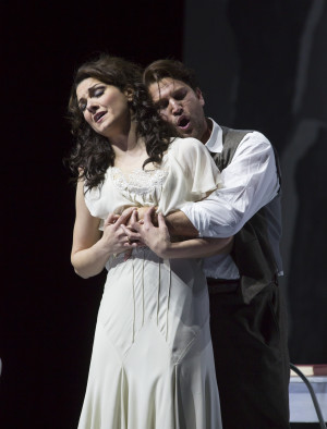 "(l.-r.) Sandra Piques Eddy and Alex Richardson in Boston Lyric Opera's ""Werther,"" running March 11-20 at the Citi Shubert Theater -- Photo: T. Charles Erickson"