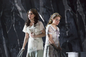 "(l.-r.) Sandra Piques Eddy and Rachele Gilmore in Boston Lyric Opera's ""Werther,"" running March 11-20 at the Citi Shubert Theater -- Photo: T. Charles Erickson"